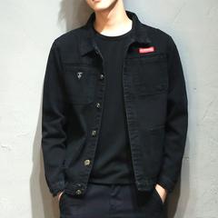 春季男士工装牛仔外套韩版潮流修身帅气青年上衣男装日系休闲夹克