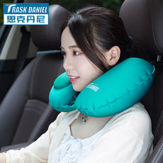 U-type pillow compression inflatable pillow blowing travel plane car sleeping portable neck neck pillow nap pillow