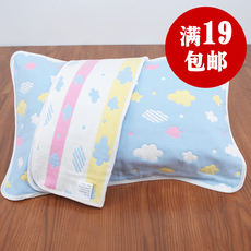 Children's pillow towel cotton thickening six layers of gauze baby pillow towel sweat-absorbent breathable kindergarten cotton baby pillow towel