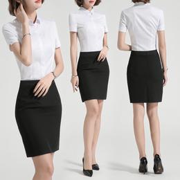 职业套装女2019夏装新款工作服时尚气质面试服OL正装套裙前台工装