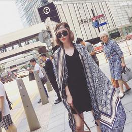 波西米亚流苏棉麻围巾女夏旅游防晒披肩两用民族风纱巾超大沙滩巾