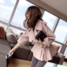 [Spot flash] Mystery show woolen coat female short paragraph 2017 autumn and winter wear short man woolen coat tide