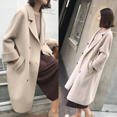 Anti-season clearance woolen coat female long section Korean version 2018 winter new thickening self-cultivation double-faced woolen coat