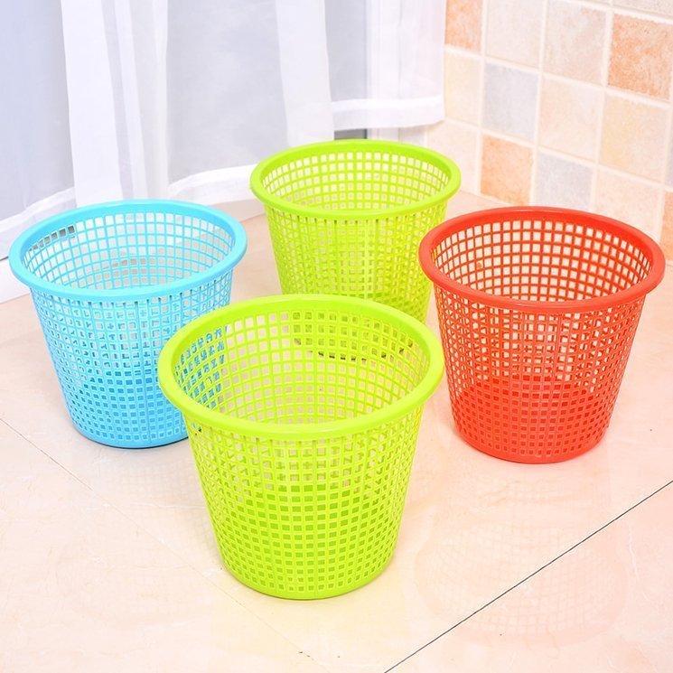 塑料镂空垃圾桶客厅厨房卫生间小垃圾桶无盖办公室垃圾篓纸篓A