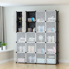 Simple wardrobe modern minimalist resin adult steel frame folding assembly fabric closet solid wood combination storage cabinet