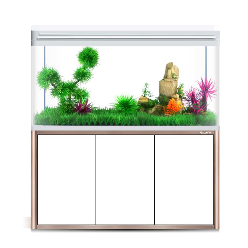 西龙鱼缸客厅中小型家用懒人免换水玻璃生态大型金鱼水族箱带底柜