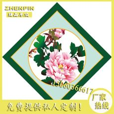 Temple ceiling ancient building painting art ceiling Buddha temple ceiling PVC inkjet ceiling sound-absorbing moisture-proof peony