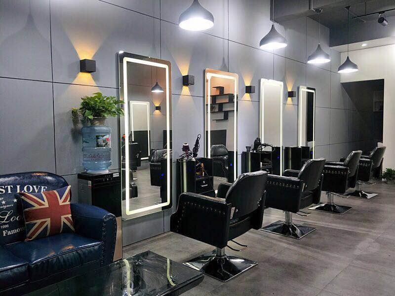 美发 镜台 理发 店镜子led带灯欧式美容院发廊工具柜定制新款上市