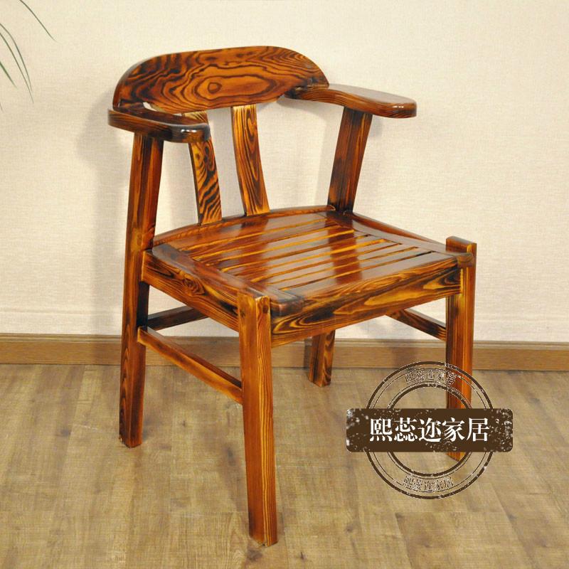 实木餐厅饭店餐桌椅组合 乡村农家乐桌椅全实木八仙桌仿古桌餐椅