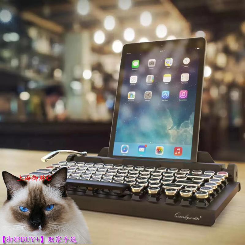 御胖Buy+京造Qwerkywriter 2代DOT圆点蓝牙复古机械键盘Cherry轴