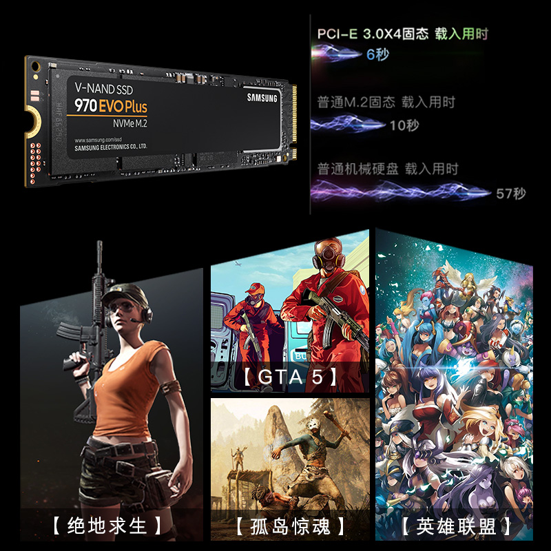 【分期免息】Samsung/三星 MZ-V7E1T0BW 1t 970EVO plus nvme m2 pcie固态硬盘SSD 固态硬台式机笔记本固态