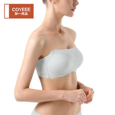 COYEEE plus one still product half cup underwear women No steel ring gathered no trace invisible tube top bra M38-003