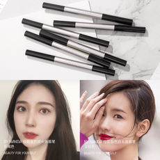 Genuine waterproof and sweat-proof eyebrow pencil Eyebrow powder Automatic rotation free-cut Korean double-headed eyebrow pencil with brush