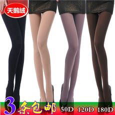 Stockings pantyhose 120D spring and autumn thick velvet anti-hook large size female one-piece pantyhose meat color silk socks
