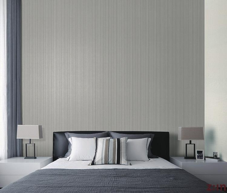 大卷韩国LG壁纸/4243个性工业风银灰竖纹竖条现代简约/可擦洗墙纸