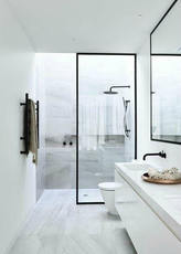 Shower room partition 10 PCT tempered laminated glass explosion-proof glass Nordic ya black custom