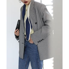 [Studiofun2018 spring new] retro wild fashion classic houndstooth suit jacket