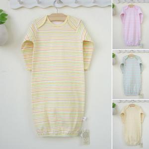 婴儿睡衣睡袍春秋款纯棉宝宝睡衣连身衣新生儿衣服秋装0-3-6个月