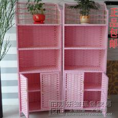 Straw multi-function locker economical shoe cabinet pastoral rattan shoe rack multi-layer rack special offer simple bookshelf