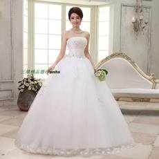 2018 new / increase fat / large size bride wedding tube top / fat sister was thin classic