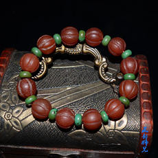 Private collections Tibetan melon-type South red agate exquisite bracelets