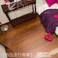 Carbonized brown lock buckle bamboo and bamboo flooring