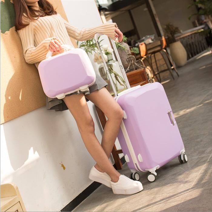 箱包旅游旅行箱箱包留学简约潮可爱静音商务旅行把手行李箱女轮子