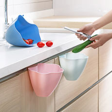 Qiaoju home cabinet door hanging trash can kitchen counter storage box home desktop plastic small trash 篓