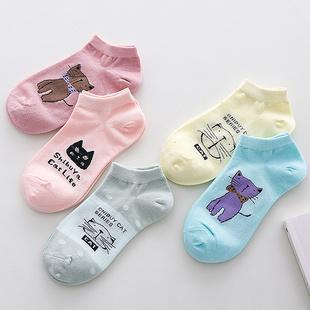 袜子女士短袜船袜隐形袜浅口低帮卡通可爱吸汗运动棉袜女四季女袜
