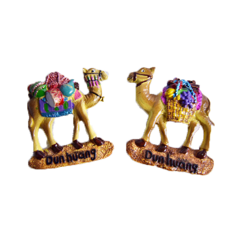 敦煌创意装饰工艺礼品旅游纪念品骆驼磁性冰箱贴5个包邮 随机发货
