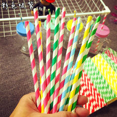 Color straws Disposable paper straws Color artistic paper straws 25 mixes