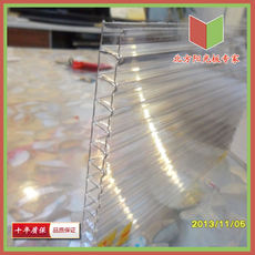 Sunshine board sun room transparent tile PC endurance board color steel plate terrace lighting board hollow board sunlight canopy board