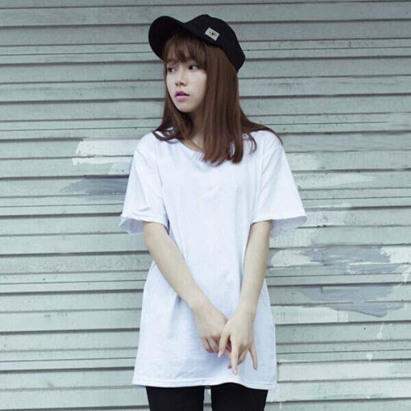 纯白色t恤韩版大码女装打底衫上衣潮宽松纯棉圆领短袖女款显瘦t恤
