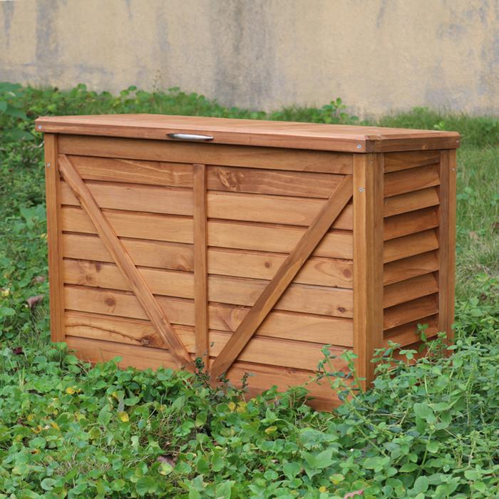 包邮简约户外木柜花园阳台防腐防雨通风实木收纳储物柜置物垃圾箱
