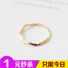 Korea official website jewelry fashion wave ring curve beauty joint ring small fresh ring
