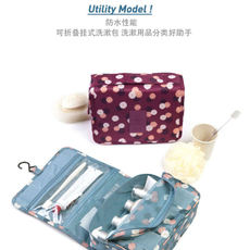 Hanging wash bag makeup travel storage bag men and women large capacity shower storage bag cosmetic bag supplies waterproof
