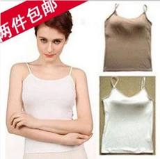 Female Summer Modal with chest pad free bra strap vest cup one base shirt female underwear home service