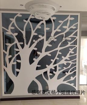 维尔加硬PVC木塑镂空雕花板 客厅卧室餐厅玄关背景墙隔断屏风花格