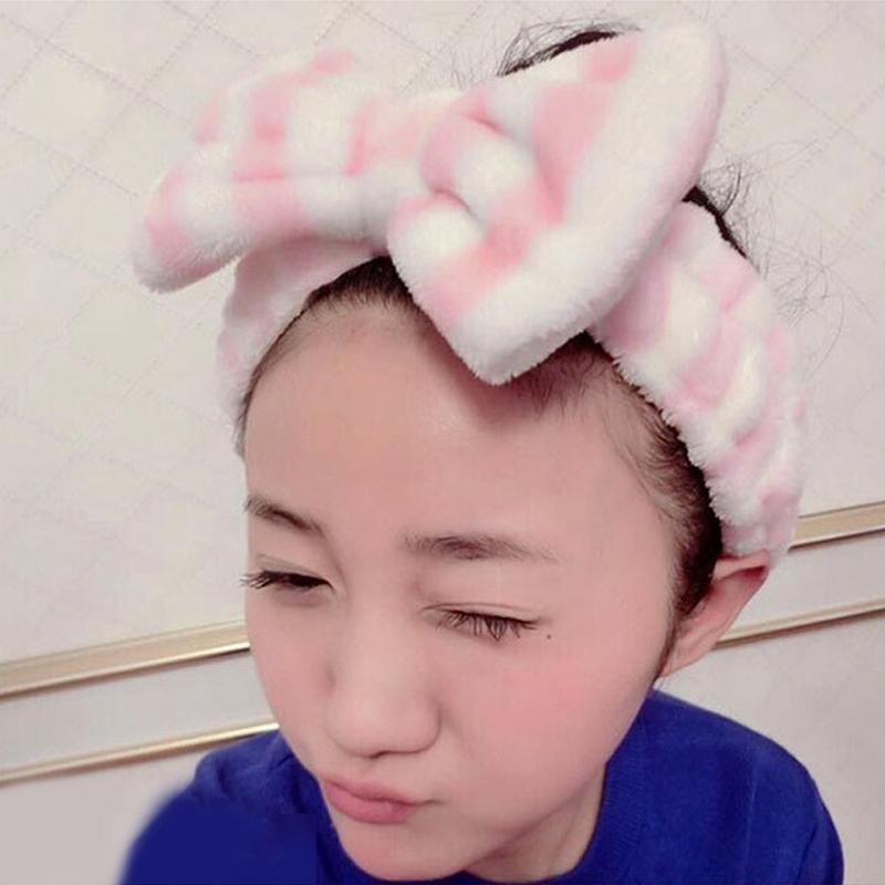 可爱洗脸发箍宽边盘发带日韩版甜美蝴蝶结发卡女头箍头饰发饰发圈