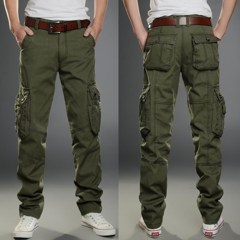 夏季薄款工装裤男直筒多口袋宽松长裤户外休闲裤耐磨工作迷彩军裤