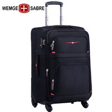 WEMGE Swiss army knife suitcase universal wheel student trolley case male Oxford cloth suitcase female boarding case