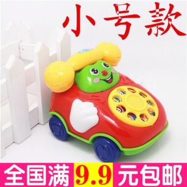 拉线响铃电话车 儿童拉线惯性玩具婴幼儿玩具电话模型玩具车