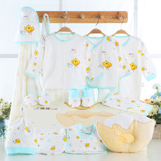 Baby clothes newborn summer gift set maternal and child spring and autumn full moon cotton 0-3 newborn baby supplies