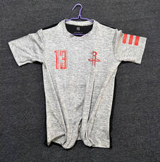 Good quality / stretch thin breathable absorbent breathable rocket training on the 13th basketball loose leisure short-sleeved basketball