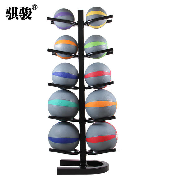 10 ball charge ball rack double-sided gravity ball rack solid ball basketball detachable ball rack fitness private classroom
