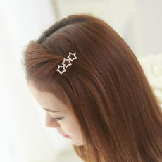 Card issuing Korean version of the simple frog buckle hairpin female Korea Star bangs clip side clip top chuck hair tiara clip