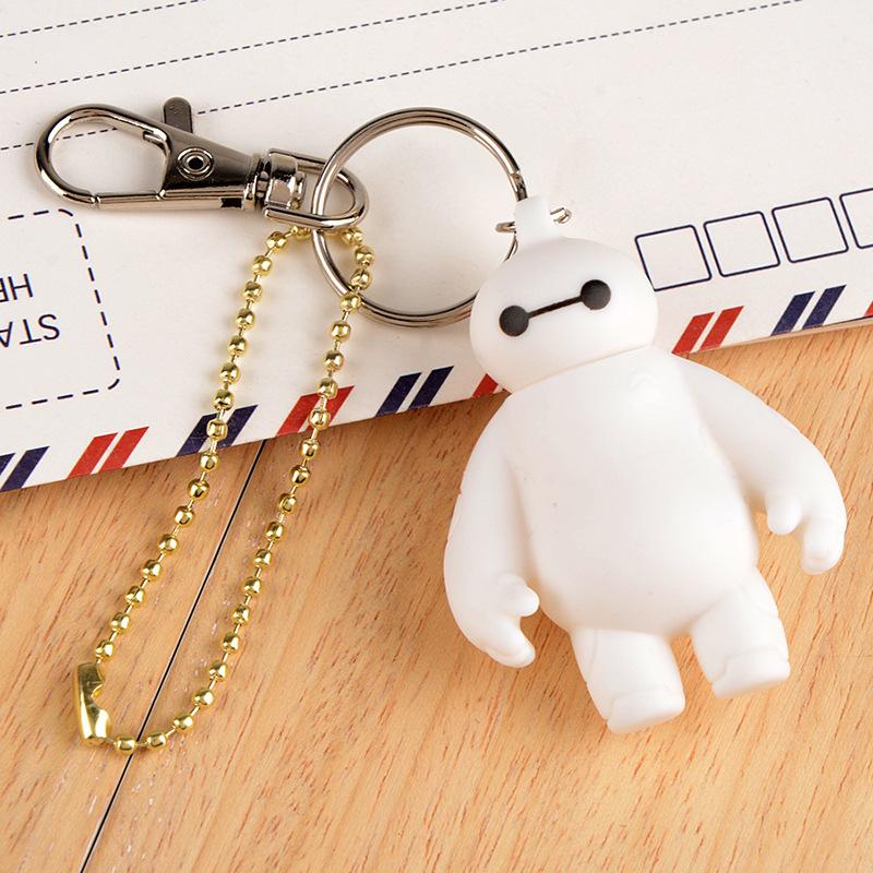 超能战队暖男 个性汽车钥匙挂件 大白钥匙扣 创意汽车钥匙链定制