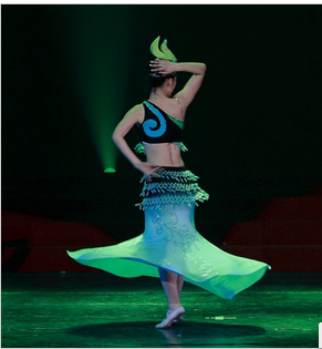 Peacock flying, Dai dance, solo, stage performance, performance costume, support video, custom rental