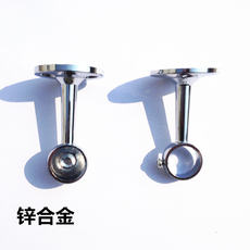 [Daily specials] Top loaded Roman rod curtain rod bracket rod bracket round base alloy curtain accessories
