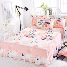 Simmons bed cover bed skirt bed cover single piece dustproof slip protection cover 1.5 m 1.8m mattress bed sheet 笠